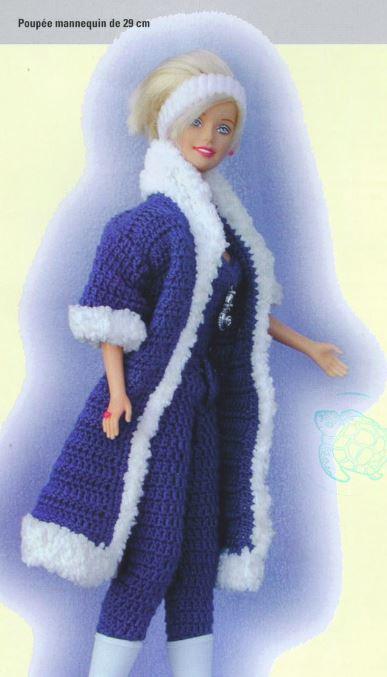 Un manteau  col fourrure pour Barbie..