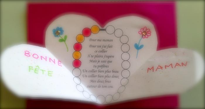 La fête des mères à l'école maternelle