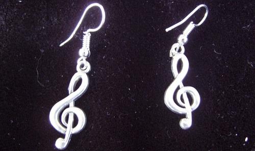 Boucles d'oreilles clés de sol
