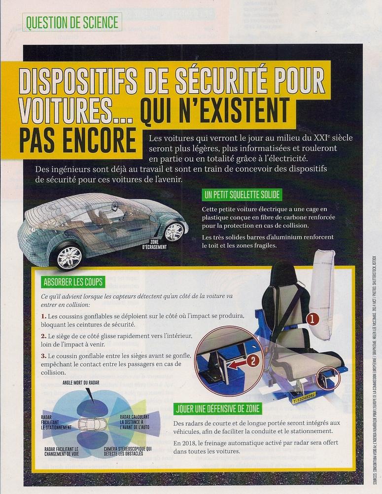 Sciences-Général:  Dispositifs de sécurité pour voitures.. qui n'existent pas encore