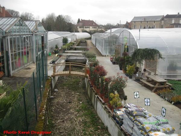 René Drappier a visité la jardinerie Genty de Châtillon sur Seine