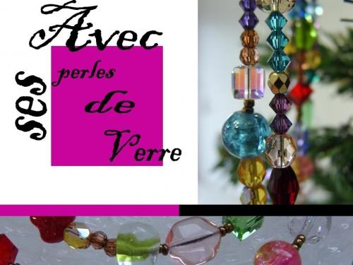 colliers en perles de verre réalisés par sylvie le brigant