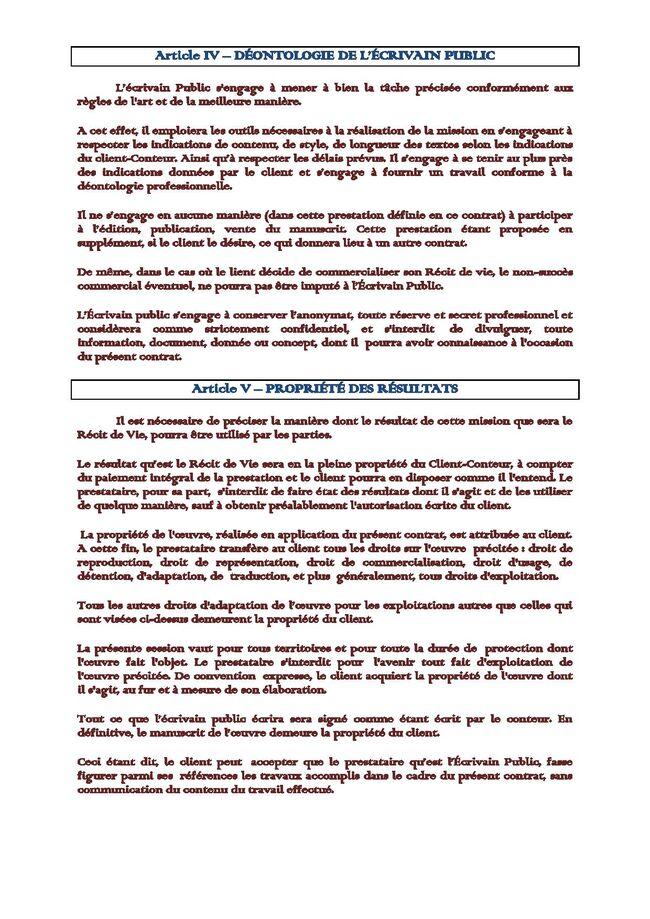 CONTRAT-TYPE (RdV)