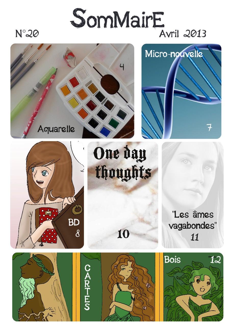 Pensées d'un jour n°20 ❀ Couverture, édito et sommaire