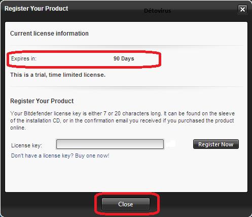 Bitdefender Total Security - Licence 3 mois gratuits