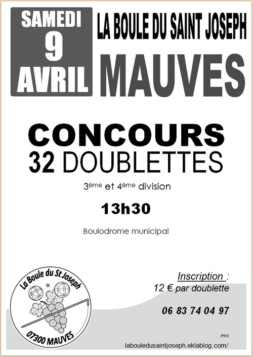 32 DOUBLETTES 9 AVRIL