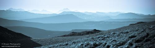 Roc de Toulau au petit matin - Vercors