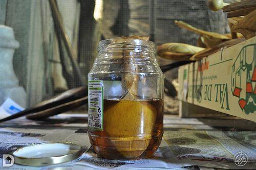 Bain d'huile d'abrasin pour les cuillères