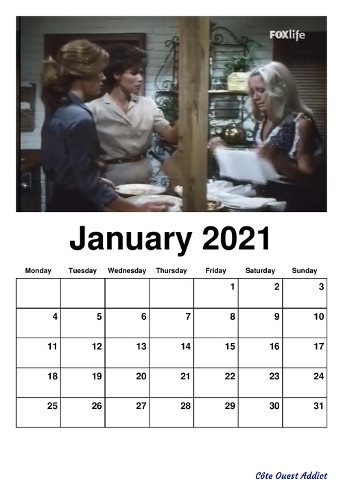 Calendriers mensuels 2021 en anglais(fin)./Monthly calendars 2021 in English.