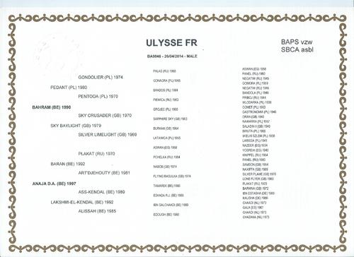 Ulysse FR né le 26 avril 2014
