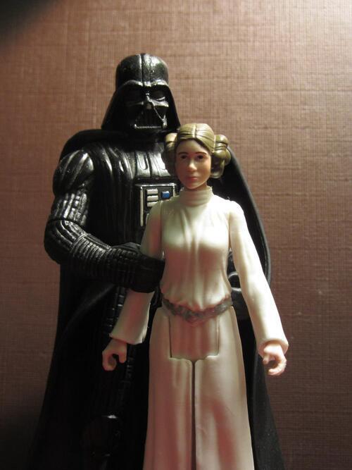 Leia et Dark Vador (papa...)