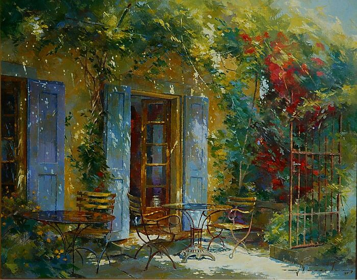 ARTISTE JOHAN MESSELY (BELGIQUE) - PAYSAGE