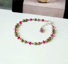 Bracelets pierres et cristal de Swarovski - Pyrite, hématite, oeil du tigre
