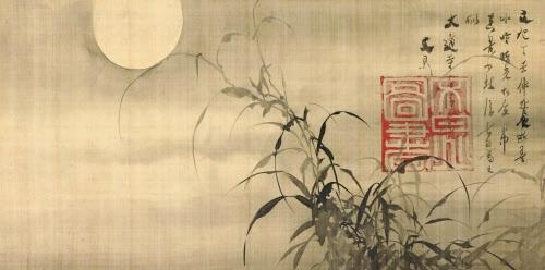 Lune claire par une nuit d'automne, Tani Buncho, 1817