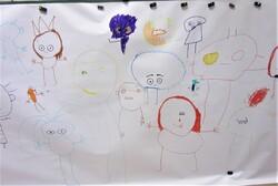 Année scolaire 2020 / 2021:  piste graphique n°2 : réaliser des bonshommes à partir des yeux dessinés