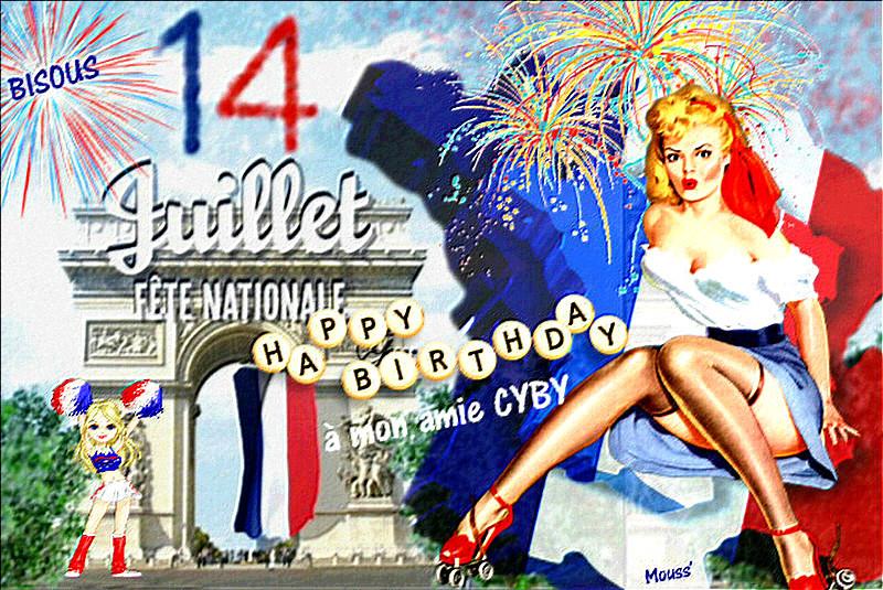 Fete Du 14 Juillet Et Anniversaire De Mon Amie Cyby Maelno