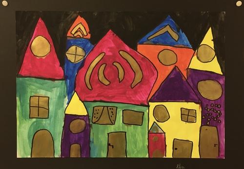 Ville à la manière d'Hundertwasser