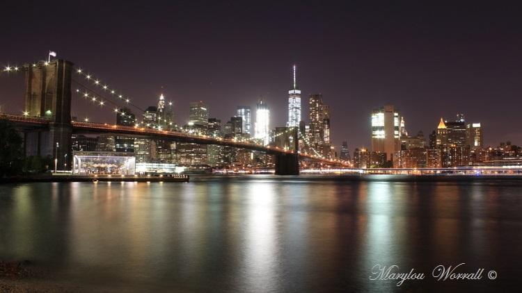 New York de nuit : Manhattan vue de Brooklyn