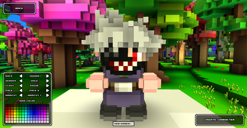 Cube World Mod : Ken Kaneki Head