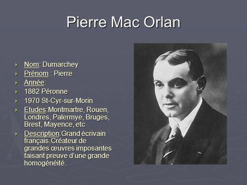 Pierre de Mac Orlan - quelques nouvelles datant des années 20.
