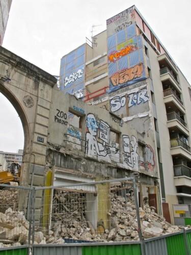 Zoo Project street-art démolition sel