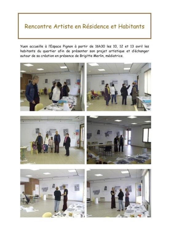 Rencontre Artiste en Résidence et Habitants