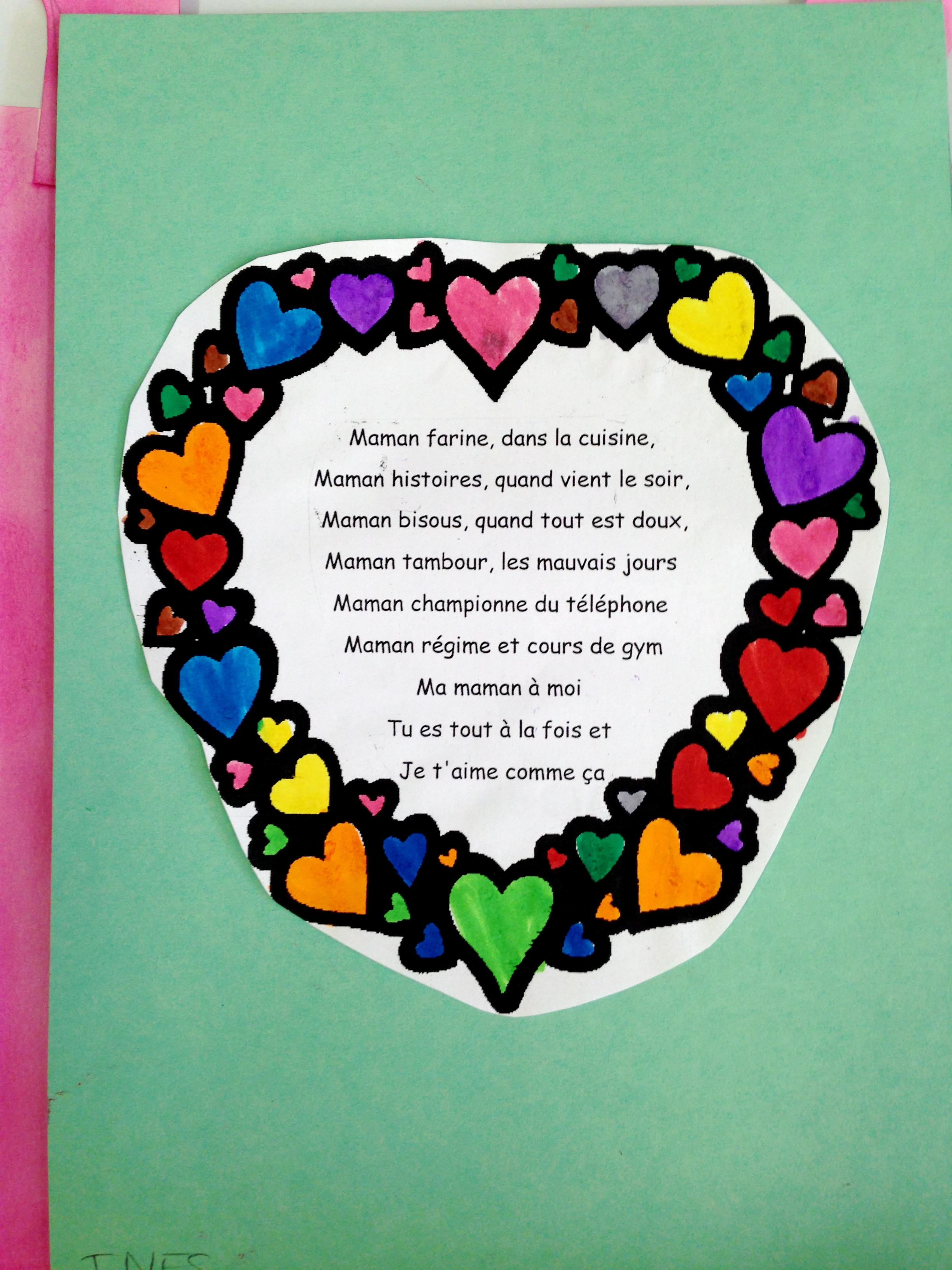 Souvent La fête des mères à l'école maternelle - À cartable ouvert HR15