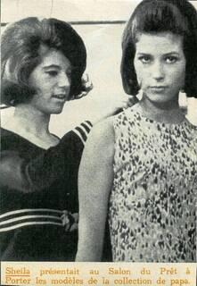 Hiver 1964 : Sheila mannequin pour La Boutique / Inédit !