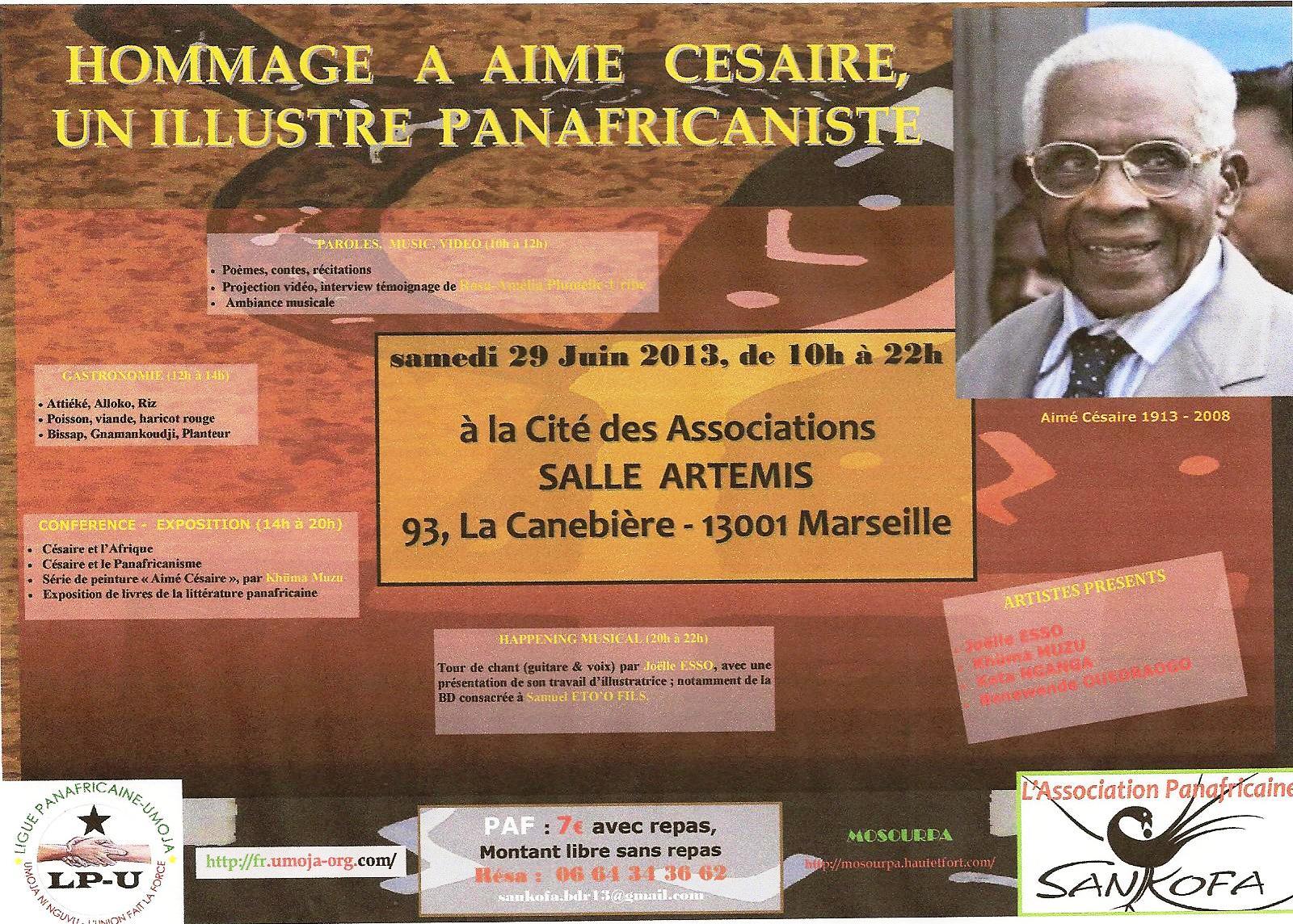 Aimé Césaire à Marseille le 29 juin