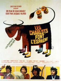 AFFICHE LES CHARLOTS FONT L'ESPAGNE