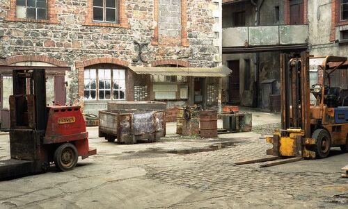 Avril 1989 Tanneries du Centre à Roanne, Rue Alexandre Raffin