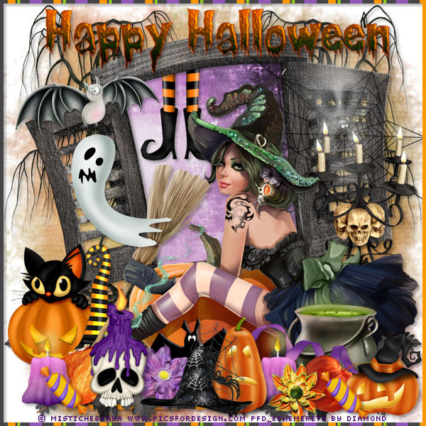 Defi Wordart + Kit Halloween chez Delire2scrap