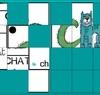 Avec Jclic des puzzles réalisés avec les affichages YADESMOTS