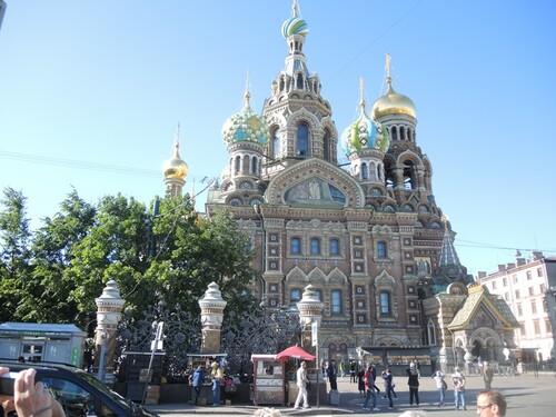 Croisière Russie- N°2- St Petersbourg- jour 1 - Cathédrale St Sauveur du sang versé.