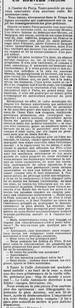 Un nouveau messie - Salle de lecture à Tours (L'Union libérale, 30 nov. 1913)