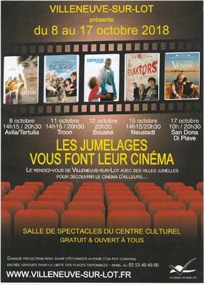 LUNDI 8 OCTOBRE CINEMA ESPAGNOL