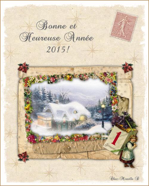 Carte Bonne Année 2015 Style Ancien