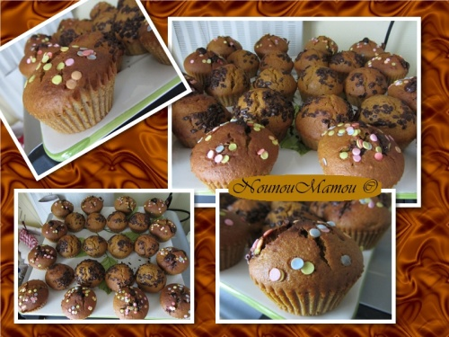 Muffins au potimarron et aux pices