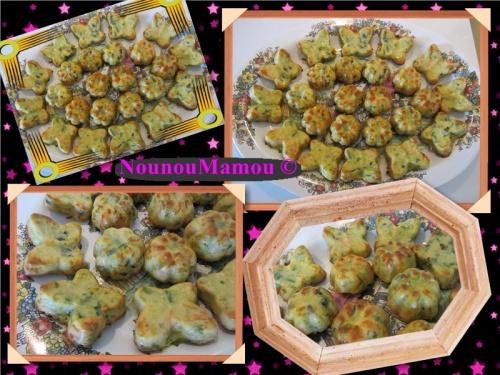 Papillons et fleurs aux poireaux et 2 saumons