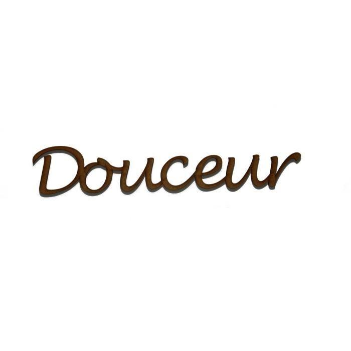 """Mot """" Douceur"""" en médium de 3 mm - Achat / Vente objet décoration murale -  Cdiscount"""