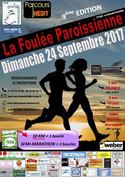 ⇒ Marche nordique à la Foulée Paroissienne.
