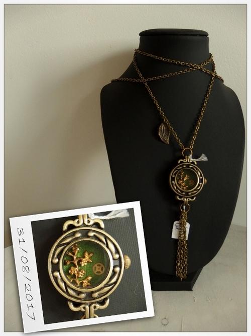 colliers textile ou pièces d'horlogerie