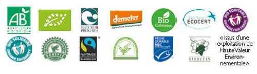 Ecolabels pour l'alimentation et les boissons