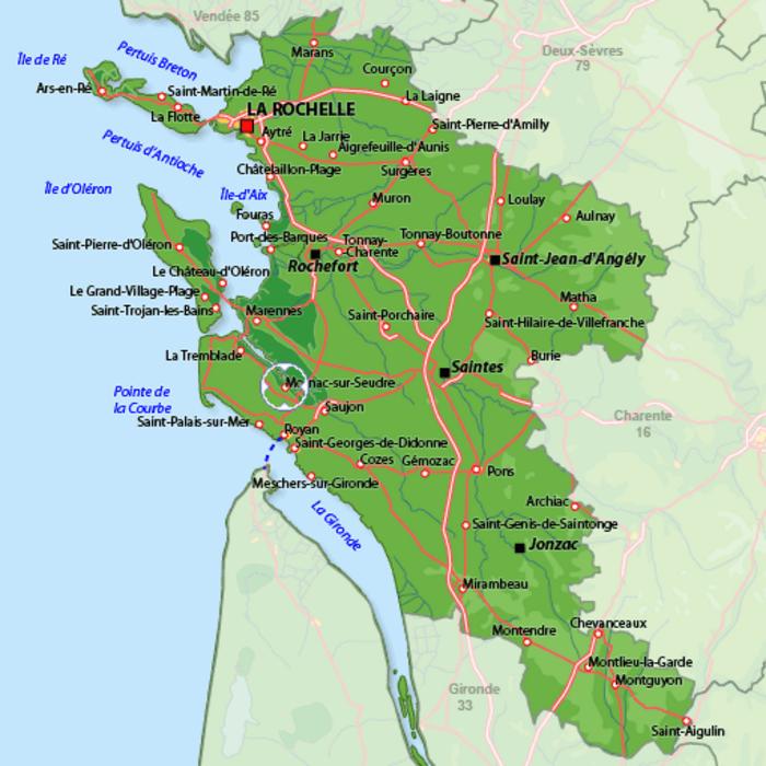 Ile Madame et Mornac sur Seudre Charente Maritime