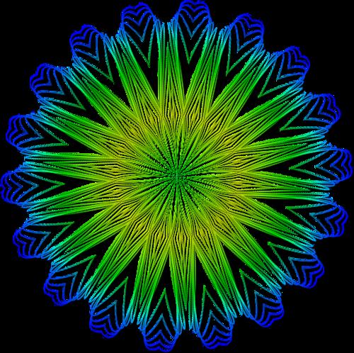 Fraktál, Neon képek