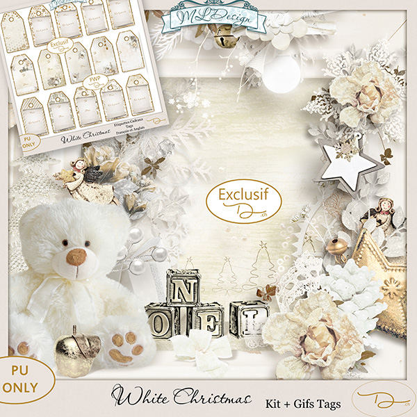 White Christmas by MLDesign _ Kit Complet