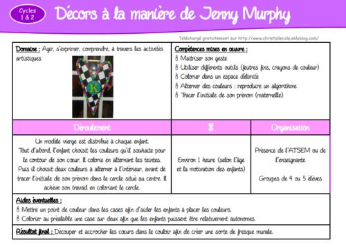 Jolis cœurs à la manière de Jenny Murphy