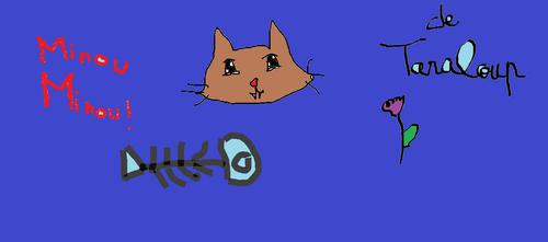 mode paint: loup et chat