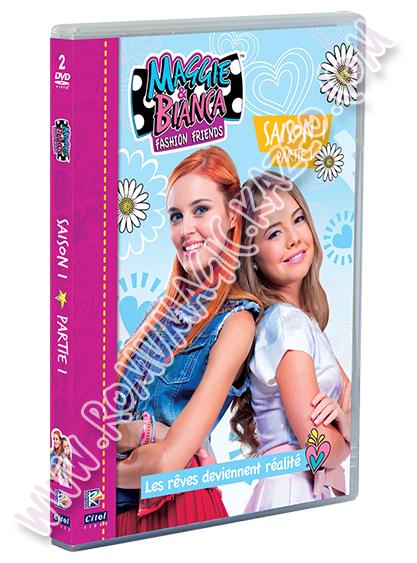 Maggie & Bianca : Visuel du DVD Volume 1 + aperçu du menu DVD