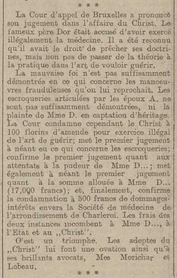 Père Dor - Cours d'appel (L'écho belge, 27 mai 1917)